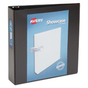 """Avery® Showcase Economy View Binder with Round Rings, 3 Rings, 2"""" Capacity, 11 x 8.5, Black Item: AVE19700"""