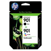 HP HP 901, (CN069FN) 2-pack Black/Tri-color Original Ink Cartridges Item: HEWCN069FN