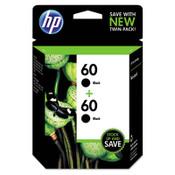 HP HP 60, (CZ071FN) 2-pack Black Original Ink Cartridges Item: HEWCZ071FN