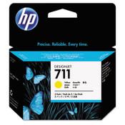 HP HP 711, (CZ136A) 3-pack Yellow Original Ink Cartridges Item: HEWCZ136A