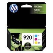 HP HP 920, (N9H55FN) 3-pack Cyan/Magenta/Yellow Original Ink Cartridges Item: HEWN9H55FN