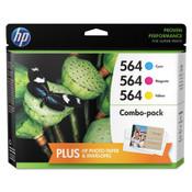 HP HP 564, (N9H57FN) 3-pack Cyan/Magenta/Yellow Original Ink Cartridges Item: HEWN9H57FN