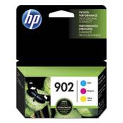 HP HP 902, (T0A38AN) 3-pack Cyan/Magenta/Yellow Original Ink Cartridges Item: HEWT0A38AN