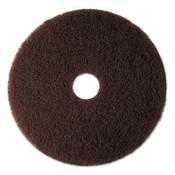 "3M™ Low-Speed High Productivity Floor Pad 7100, 17"" Diameter, Brown, 5/Carton Item: MMM08445"