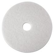 "3M™ Low-Speed Super Polishing Floor Pads 4100, 21"" Diameter, White, 5/Carton Item: MMM08485"