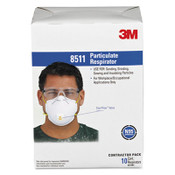 3M™ Particulate Respirator w/Cool Flow Exhalation Valve, 10 Masks/Box Item: MMM8511