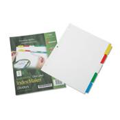 7530014344198 SKILCRAFT Avery Index Maker Dividers, 5-Tab, 11 x 8.5, White, 1 Set Item: NSN4344198