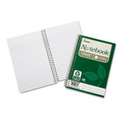 7530016002013 SKILCRAFT Recycled Notebook, 1 Subject, Medium/College Rule, Green Cover, 7.5 x 5, 80 Sheets, 6/Pack Item: NSN6002013