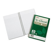 7530016002017 SKILCRAFT Recycled Notebook, 1 Subject, Medium/College Rule, Green Cover, 9.5 x 6, 80 Sheets, 3/Pack Item: NSN6002017