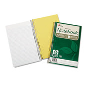7530016002020 SKILCRAFT Recycled Notebook, 3 Subjects, Medium/College Rule, Green Cover, 9.5 x 6, 150 Sheets, 3/Pack Item: NSN6002020