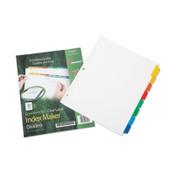 7530016006970 SKILCRAFT Avery Index Maker Dividers, 8-Tab, 11 x 8.5, White, 1 Set Item: NSN6006970