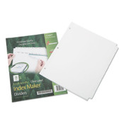 7530016006982 SKILCRAFT Avery Index Maker Dividers, 8-Tab, 11 x 8.5, White, 5 Sets Item: NSN6006982