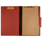 7530009908884 SKILCRAFT Classification Folder, 2 Dividers, Letter Size, Earth Red Item: NSN9908884