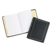 Wilson Jones® Looseleaf Minute Book, Black Leather-Like Cover, 250 Unruled Pages, 8 1/2 x 11 Item: WLJ039511
