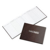 Wilson Jones® Visitor Register Book, Red Hardcover, 112 Pages, 1,500 Entries, 8 1/2 x 10 1/2 Item: WLJS490