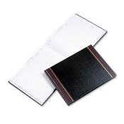 Wilson Jones® Detailed Visitor Register Book, Black Cover, 208 Ruled Pages, 9.5 x 12.25 Item: WLJS491